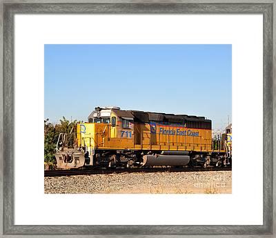 Florida East Coast Sd40-2 711 Framed Print by John Black