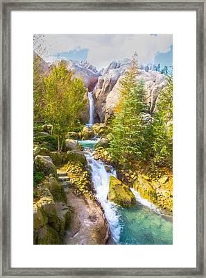 Florida Falls Framed Print