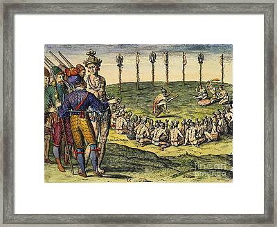 Florida: Native Americans, 1591 Framed Print