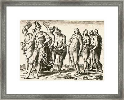 Florida Native Americans, C1590 Framed Print