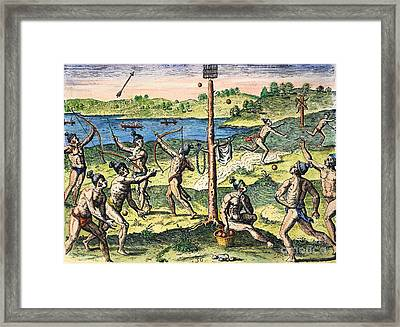 Florida Native Americans:sports, 1591 Framed Print