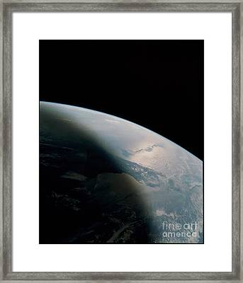 Florida Peninsula Framed Print by NASA/Science Source