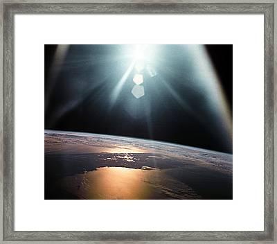 Florida Peninsula, Usa Framed Print by Nasa