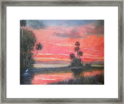 Florida River Scene Framed Print by Mike McCaughin