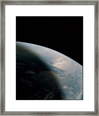 Florida Seen From Space Shuttle Framed Print by