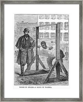 Florida: Stocks, 1866 Framed Print