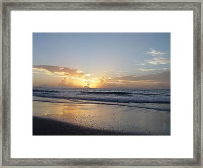 Florida Sunrise  Framed Print by Elizabeth Sullivan