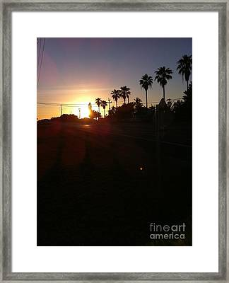 Florida Sunrise Framed Print by Richard Chapman