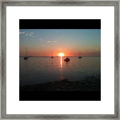 Florida Sunset Framed Print