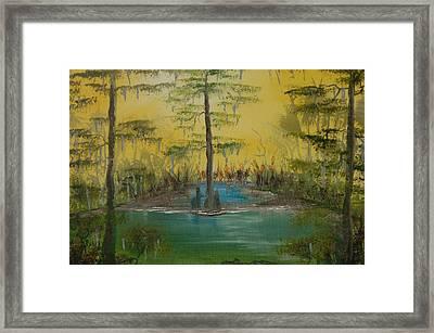 Florida Swamp Framed Print by Katheryn Napier