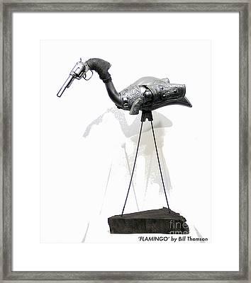Garden Gnome Hunter Framed Print