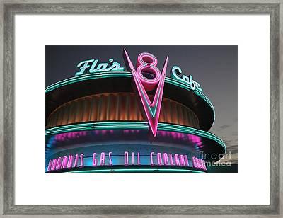 Flos Cafe - Radiator Springs Cars Land - Disney California Adventure - 5d17749 Framed Print