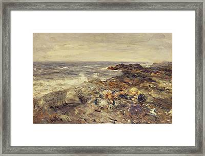 Flotsam And Jetsam Framed Print by William McTaggart