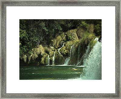 Flow Framed Print by Akos Kozari