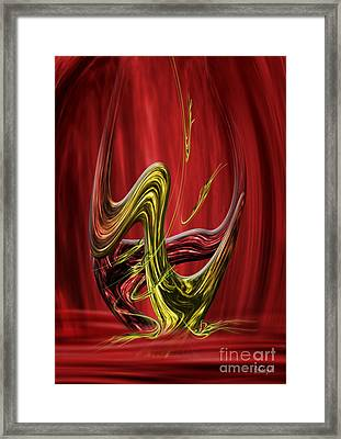 Framed Print featuring the digital art Flow In The Shift by Johnny Hildingsson