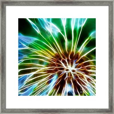 Flower - Dandelion Tears - Abstract Framed Print