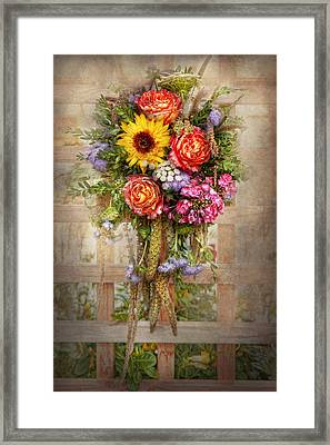 Flower - Summers Blessing  Framed Print by Mike Savad