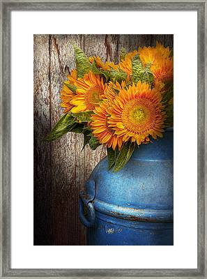 Flower - Sunflower - Country Sunshine Framed Print by Mike Savad