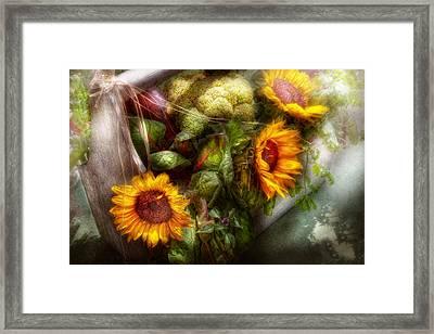 Flower - Sunflower - Gardeners Toolbox  Framed Print by Mike Savad