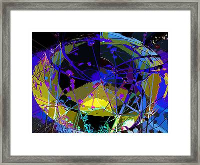 Flower Abstract Framed Print by Anne Mott