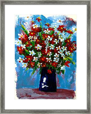 Flower Arrangement Bouquet Framed Print by Patricia Awapara