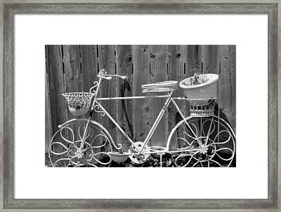 Framed Print featuring the photograph Flower Bike by Lisa Brandel