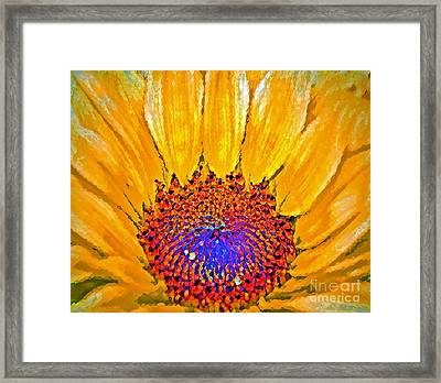 Flower Child - Flower Power Framed Print by Gwyn Newcombe
