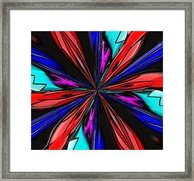 Flower Daze Nights Framed Print by Alec Drake
