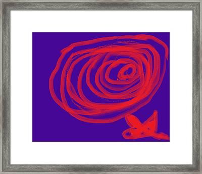 Flower Framed Print by Diana  Lesher