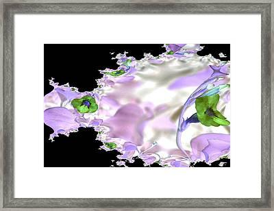 Flower Effect Framed Print by Elizabeth  Doran