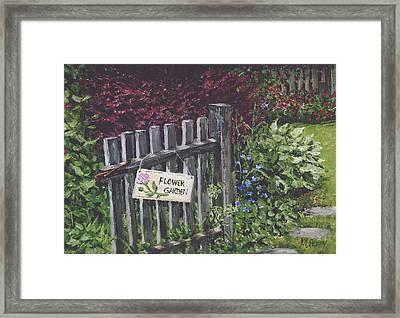 Flower Garden At Fell's Framed Print