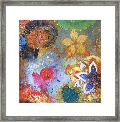 Framed Print featuring the painting Flower Garden by Elizabeth Coats