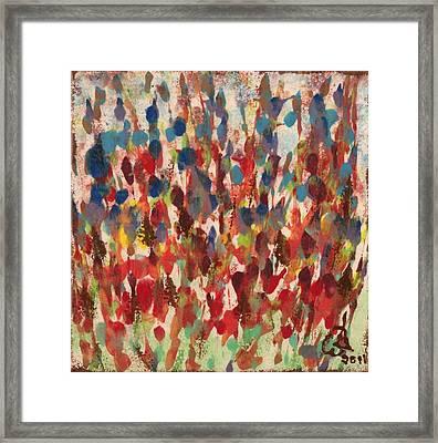 Flower Garden Framed Print by Gail Schmiedlin
