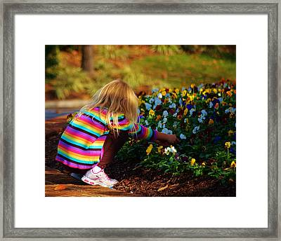 Flower Girl Framed Print