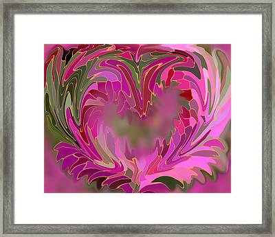Flower Heart Framed Print