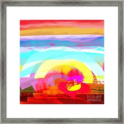 Flower Impact Framed Print by MURUMURU By FP