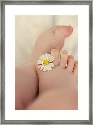 Flower In Baby Toes. Framed Print by Augenwerke-Fotografie / Nadine Grimm