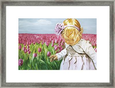 Flower In Disguise Framed Print by Elisabeth Dubois