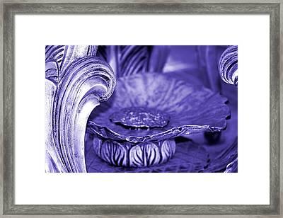 Flower In Stone Framed Print