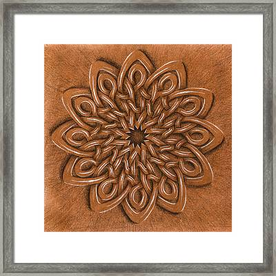 Flower Mandala Framed Print by Hakon Soreide