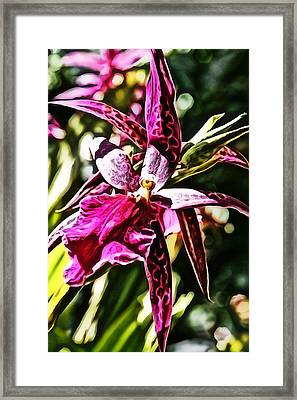 Flower Painting 0002 Framed Print by Metro DC Photography