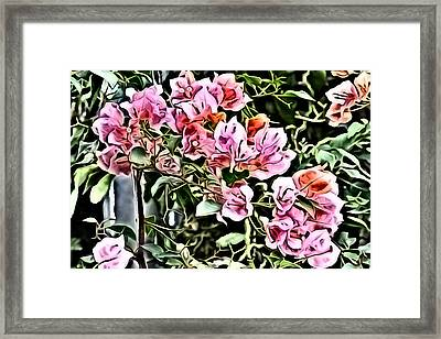 Flower Painting 0003 Framed Print by Metro DC Photography