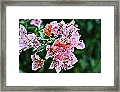 Flower Painting 0005 Framed Print by Metro DC Photography