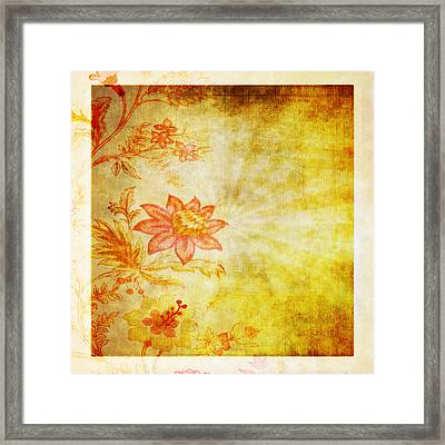 Flower Pattern Framed Print by Setsiri Silapasuwanchai