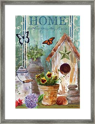 Framed Print featuring the painting Flower Pot by Elizabeth Coats