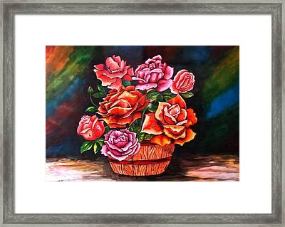 Flower Pot Framed Print by Johnson Moya