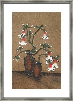 Flower Pot Framed Print by Rejeena Niaz