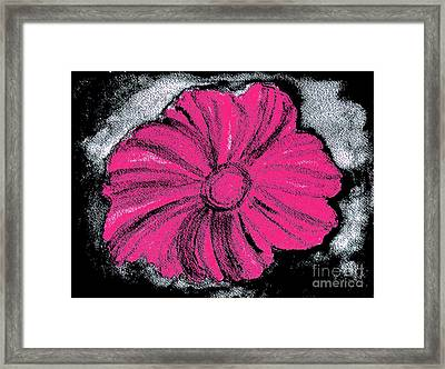 Flower Power Ll Framed Print by Marsha Heiken