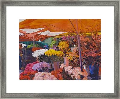 Flower Stand Framed Print