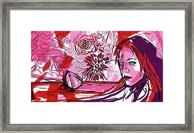 Flower Sun Lake Love Framed Print